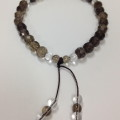 Smokey Quartz wrist mala for protection from negativity